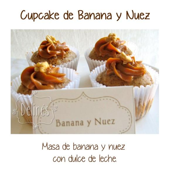 cupcake banana y nuez