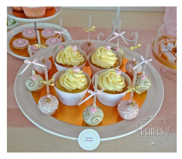 cupcakes de limon y pops