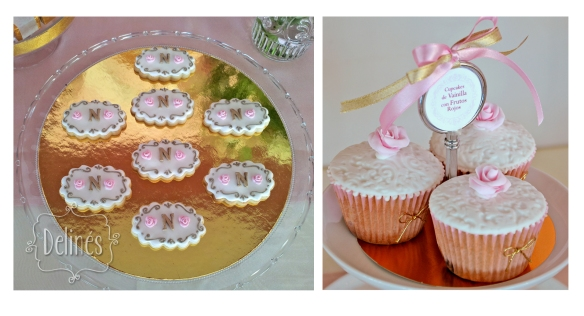 cupcakes de vainilla y cookiess