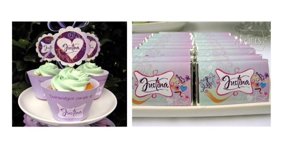 detalle cupcake y grafica