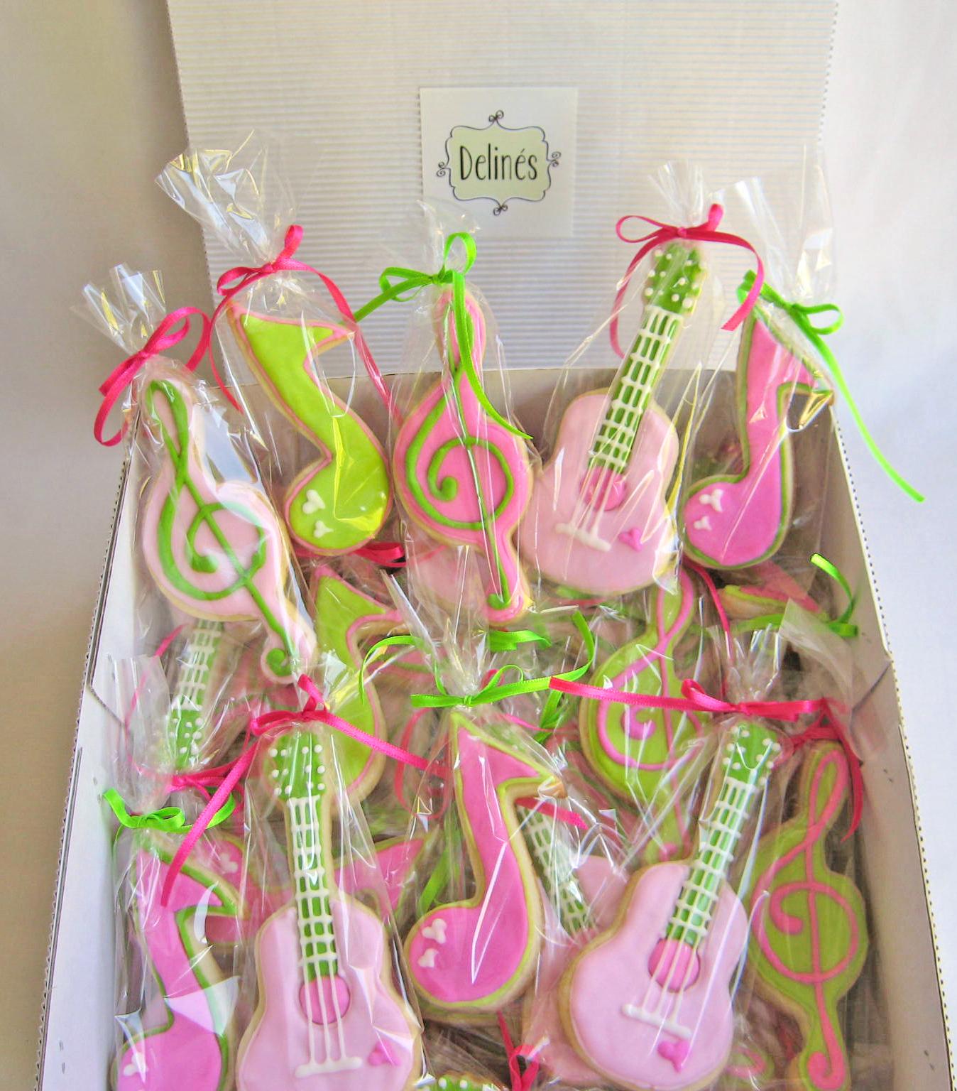 Decoracion Cumple Karaoke ~ Cookies musicales como souvenir para fiesta karaoke