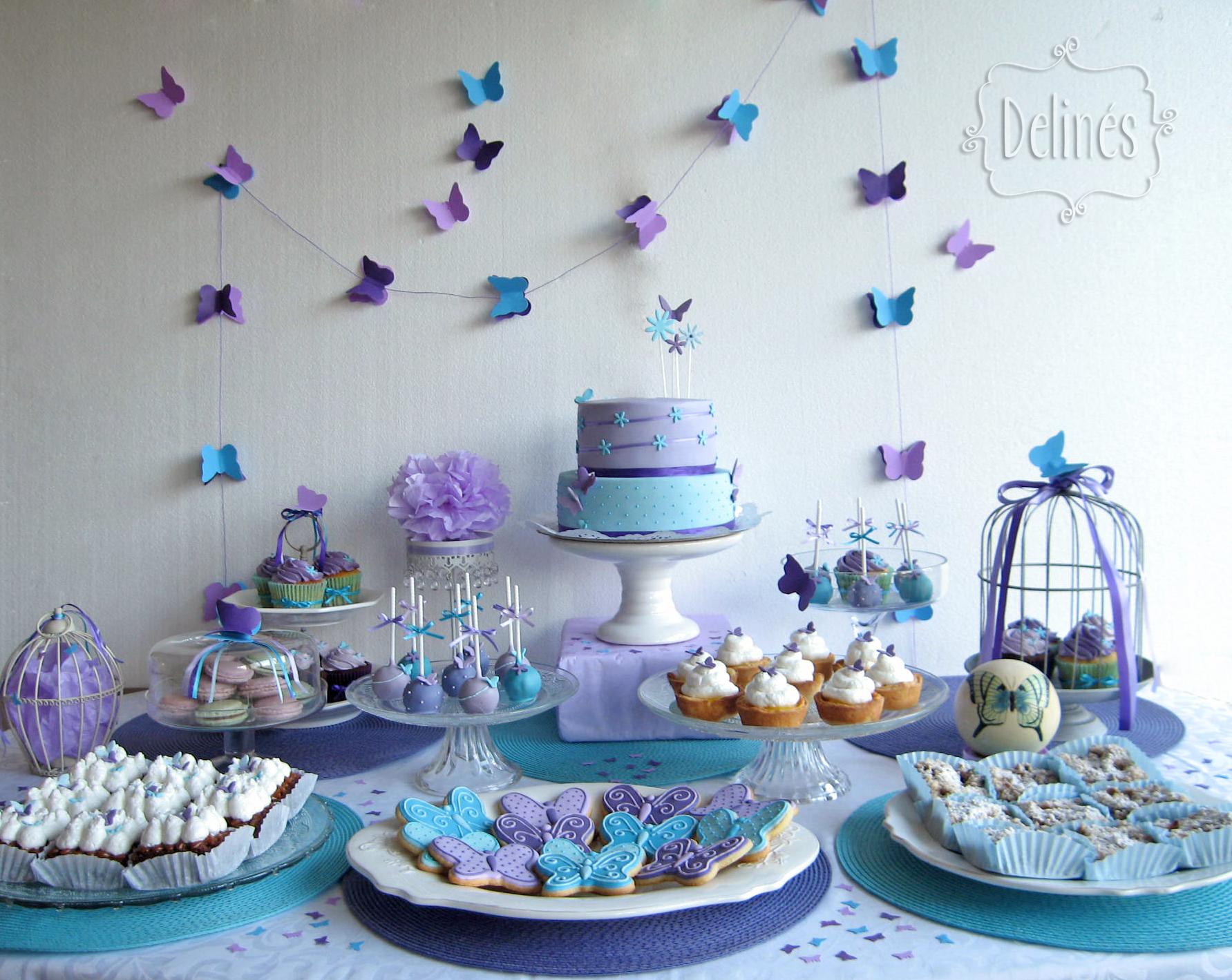 Bautismo y cumple con mariposas y flores delin s for Ornamentacion para 15