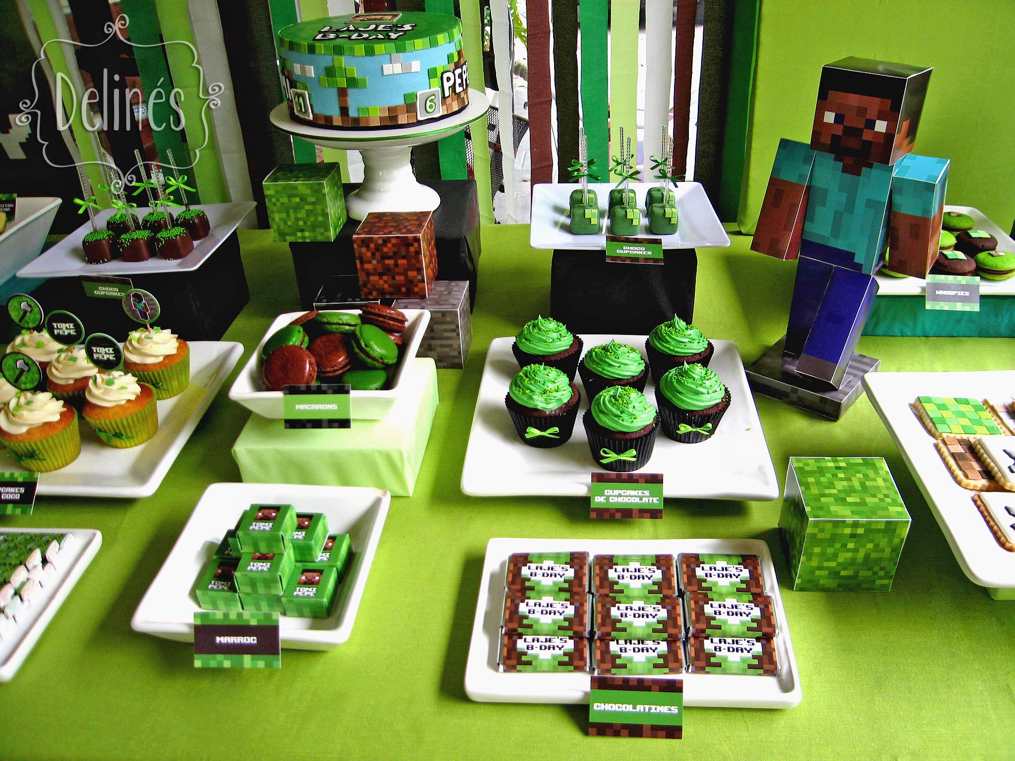 Minecraft sabor en cubos delin s for Figuras para decoracion