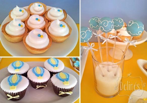 lemon, pop azules y cup chococ