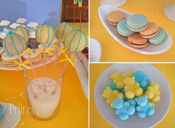 pop amarillo ositos y macarons