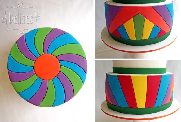 detalles torta 70s
