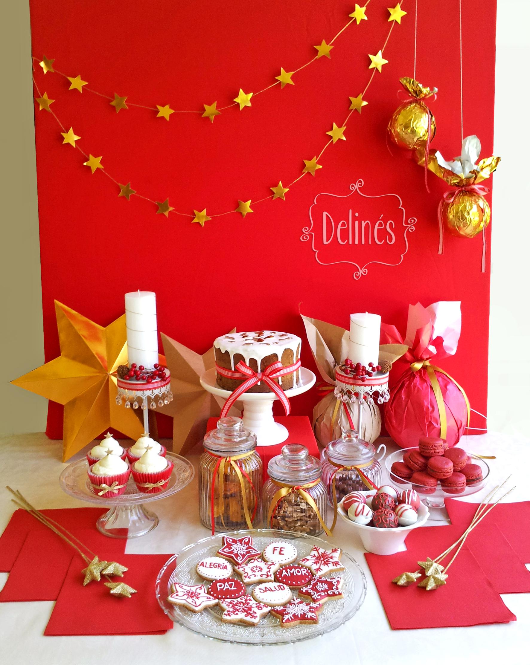 Feliz navidad delin s for Decoracion para mesa dulce