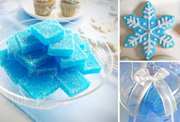 Frozen bombones frutales y detalles