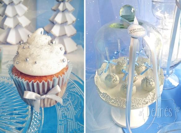 Frozen cupcake y campana de popcakes