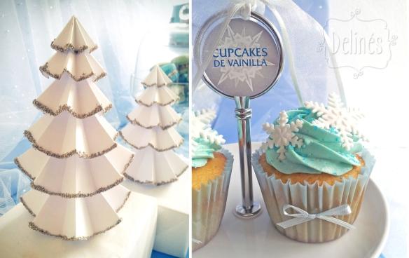 Frozen cupcake y pinitos