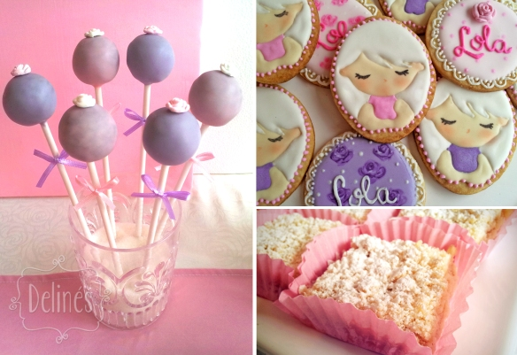 Angeles popcakes y detalles de cookies y apple crumble