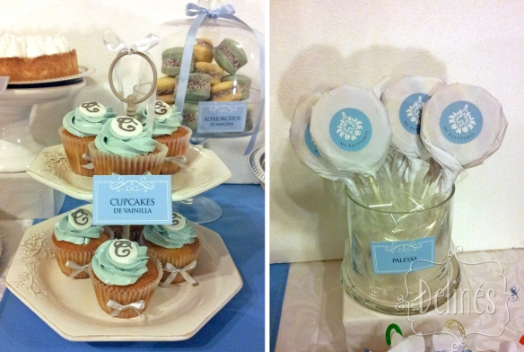 torre de cupcakes y paletas