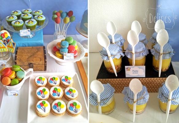 Up detalle de mesa y postres limon