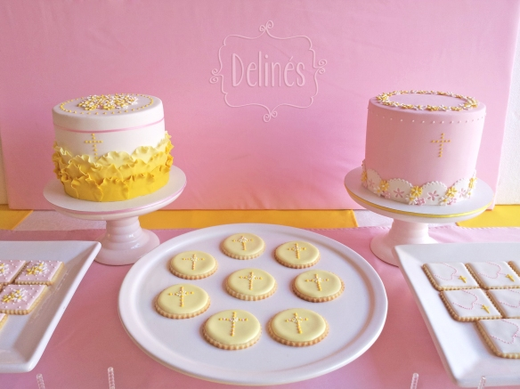 Comunion con margaritas las tortas