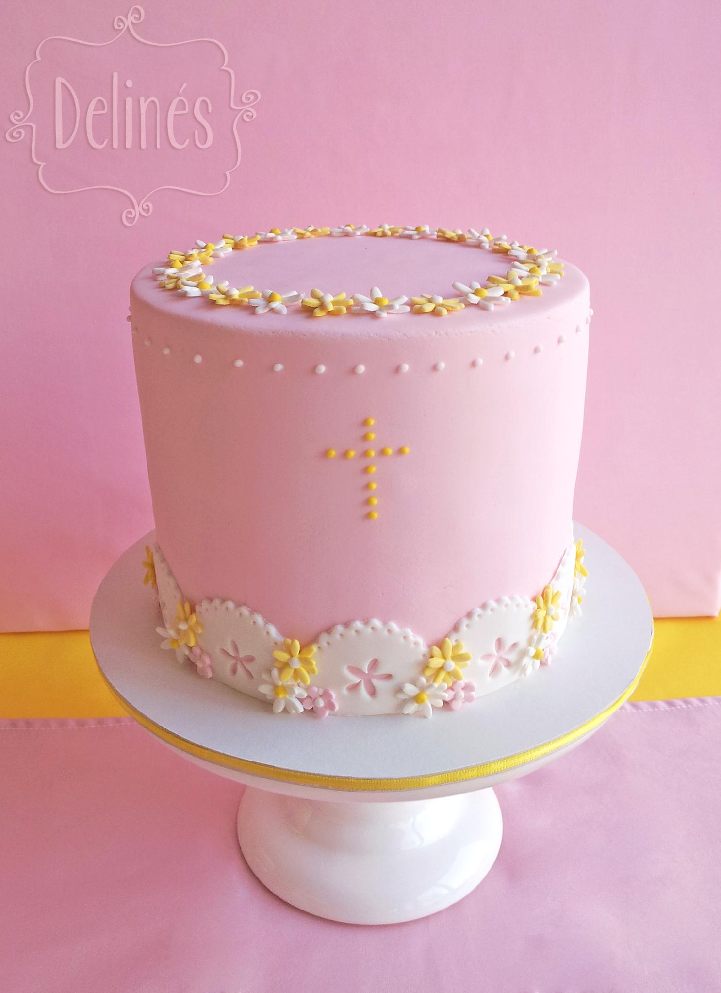 tortas de comunion con margaritas