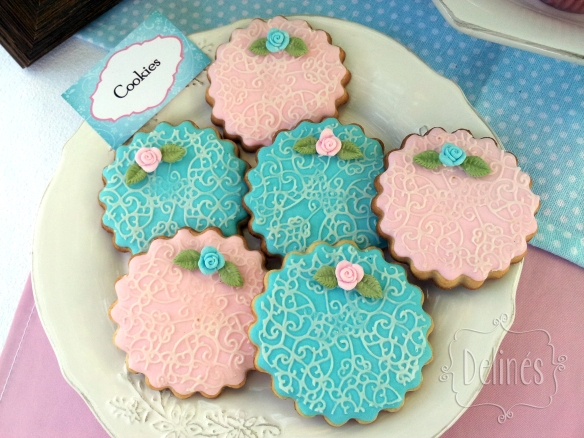 Sarah Kay Shabby chic cookie encaje
