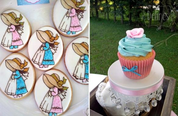 Sarah Kay Shabby chic cookies y cupcake vainilla