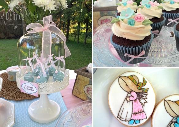 Sarah Kay Shabby chic popcakes cupcake choco y cookie