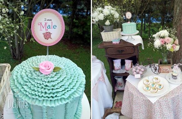 Sarah Kay Shabby chic torta y mesa dulce