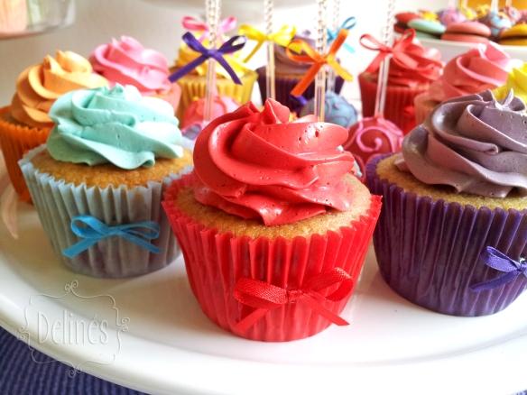 multicolor cupcakes detalle
