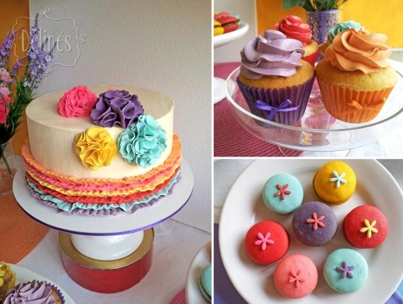 multicolor torta cupacakes y whoppies