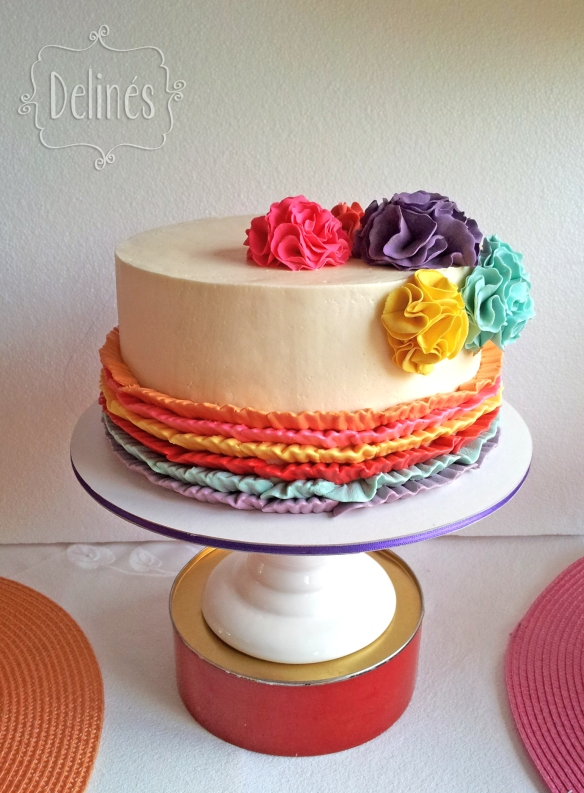 multicolor torta frente