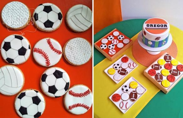 pelotas deportivas cookies y mesa arriba