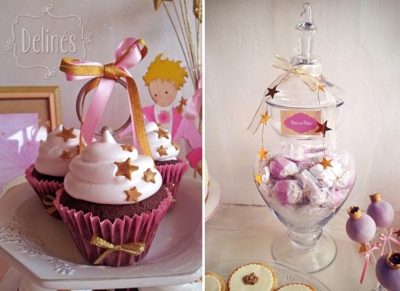 Principita detalle cupcake y copon con bon o bon