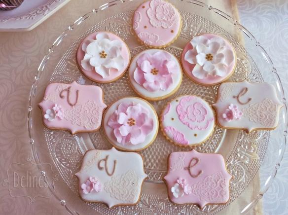 Romantico floral cookies