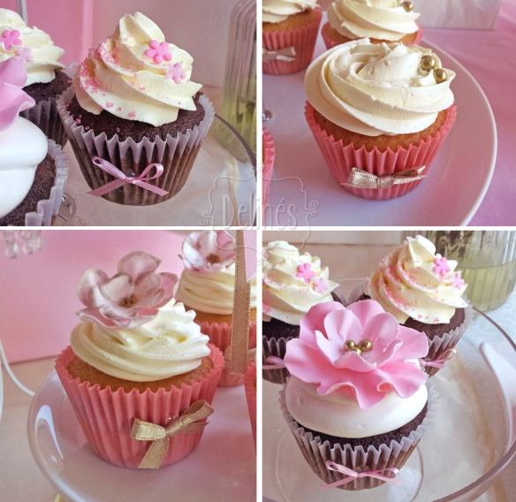 Romantico floral cupcakes}