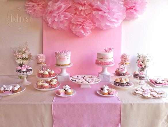 Romantico floral mesa dulce