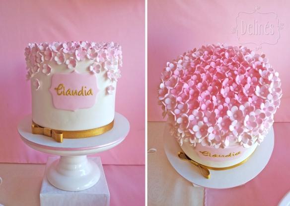 Romantico floral torta Claudia detalles