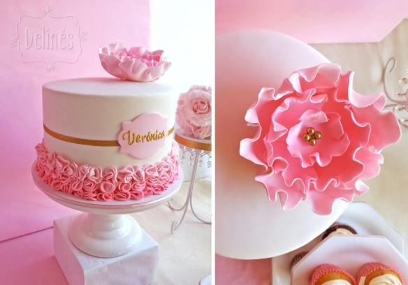 Romantico floral torta veronica detalles