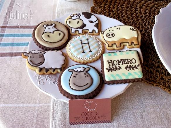 Animales de granja cookies modelos