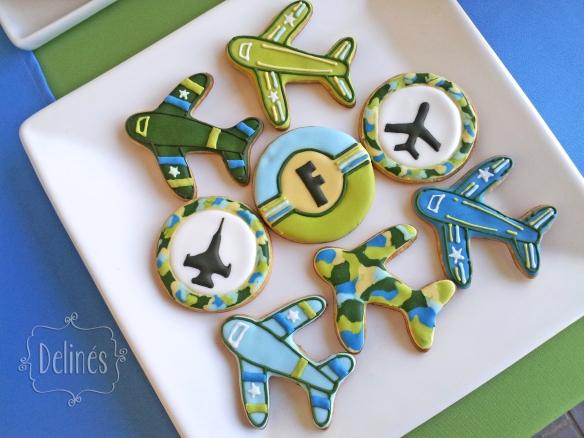 Aviones de Combate cookies arriba
