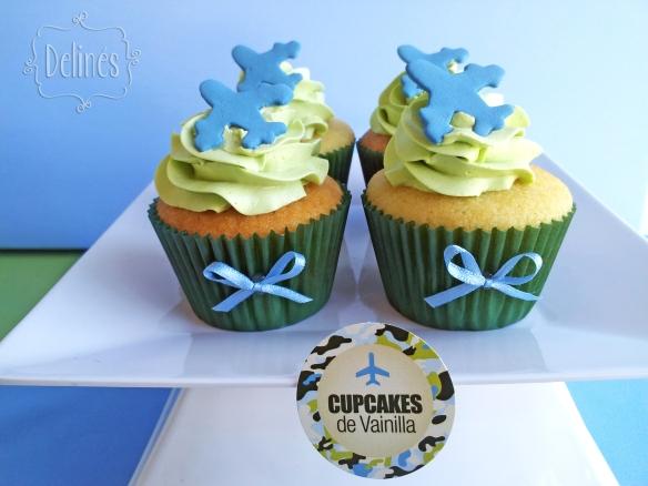 Aviones de Combate cupcakes avioncito