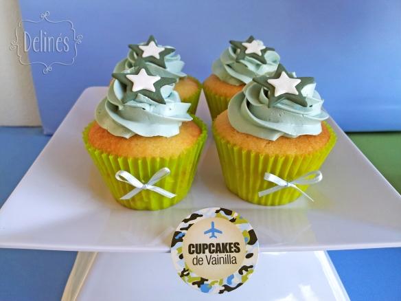 Aviones de Combate cupcakes estrella