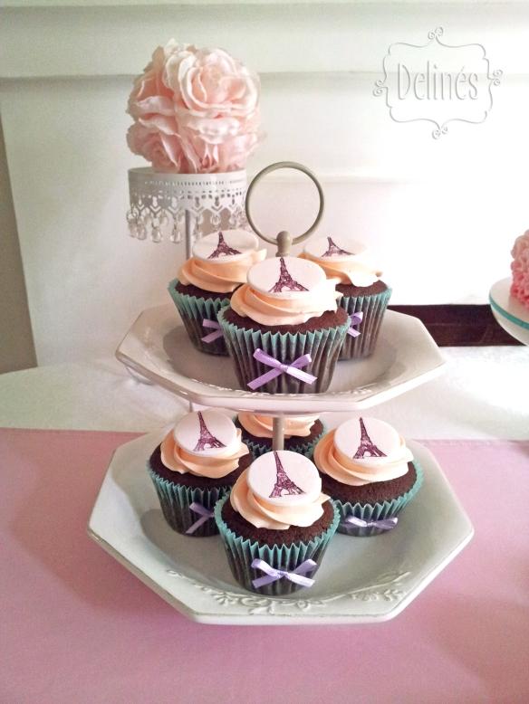Bailarina en Paris cookies torre cupcakes