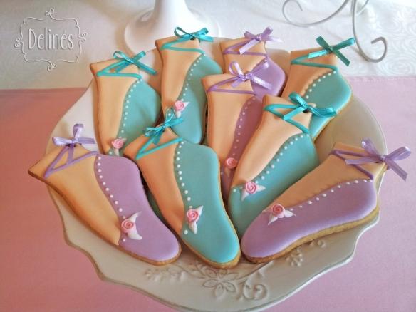 Bailarina en Paris cookies zapatillitas