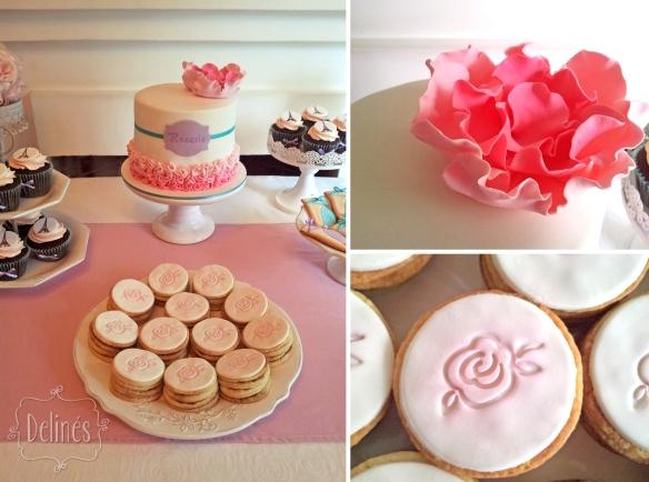 Bailarina en Paris mesa flor y rosa