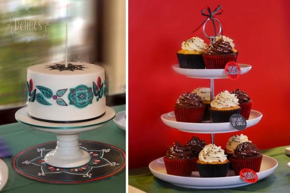 Morroco torta y torre de cupcakes