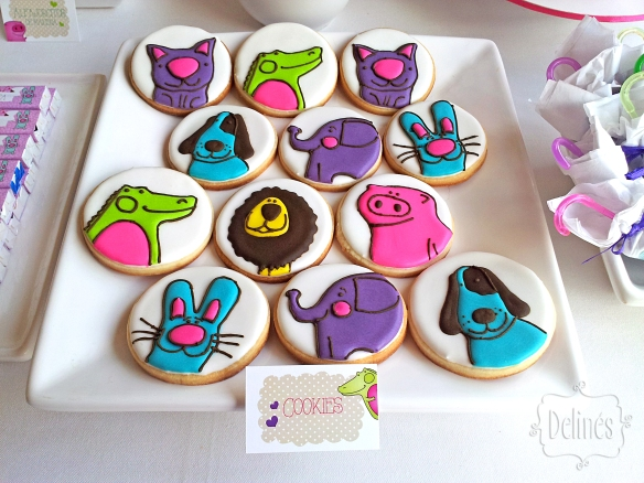 Zoo divertido cookies