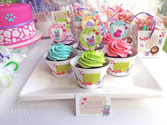 Zoo divertido cupcakes de choco