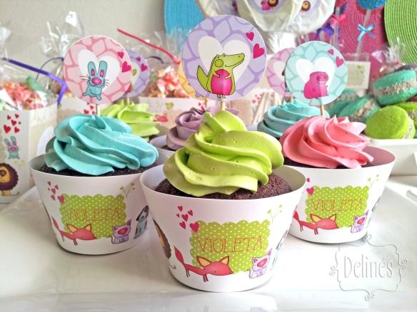 Zoo divertido cupcakes