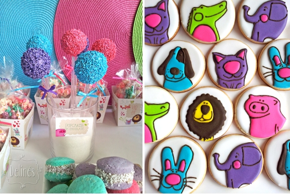 Zoo divertido popcakes y cookies