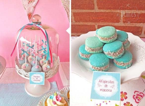 Pajaritos Shabby alfajorcitos y popcakes en campana