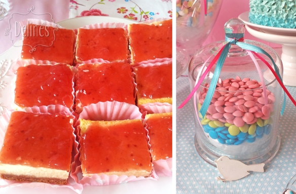 Pajaritos Shabby cheesecake y confites