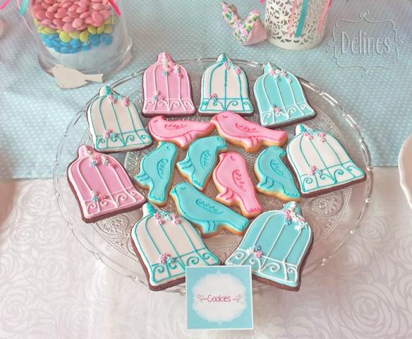 Pajaritos Shabby cookies