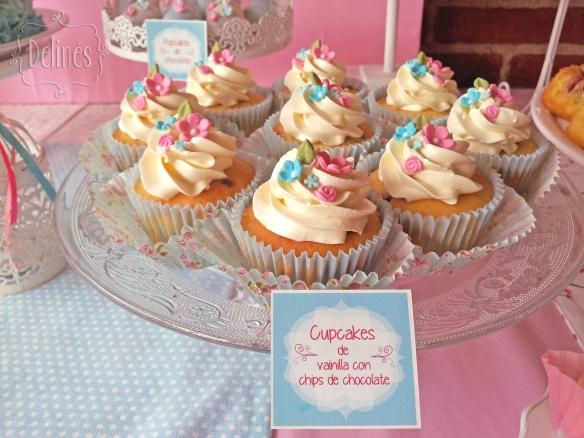 Pajaritos Shabby cupcakes vainilla