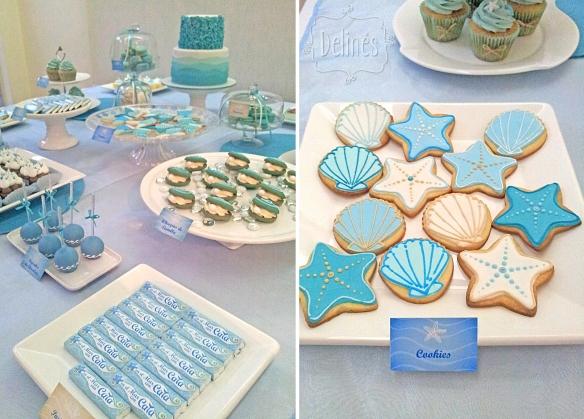 Sirenas cookies y mesa